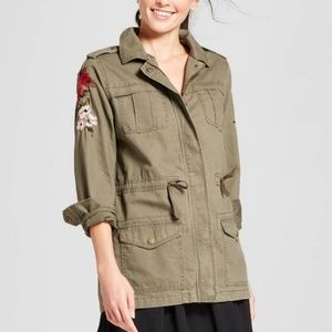 A New Day Embroidered Utility Jacket Coat